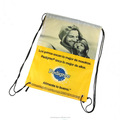 Custom full print 210d polyester drawstring bag/promotion shopping bag