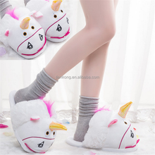 Office home thermal shoes 2017 Unicorn design shaped winter animal slippers
