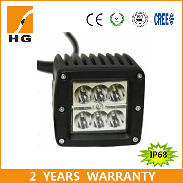 3'' 18W best selling car accessories LED work light 3inch LED square lamp