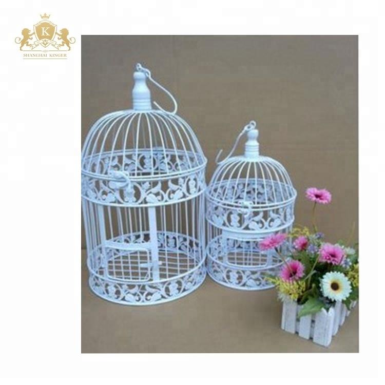 White Wedding Birdcage Centerpiece For Event Decoration Buy