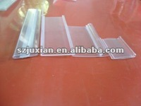 pvc extrusion profile for shelf price sign holder tag