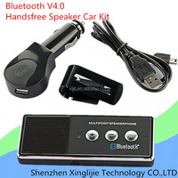 New Portable Rechargeable Bluetooth V4.0 Cell Phone Handsfree Speaker Car Kit