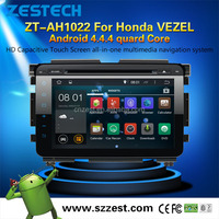 factory car dvd manufacturer 10.2 inch Android 4.4.4 Quad-Core car multimedia system for Honda VEZEL android