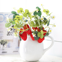 Simulated flower strawberry mulberry fruit decoration with flowers simulation fruit hand DIY material