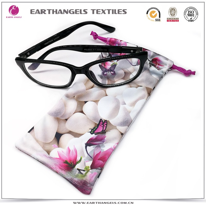 High Quality Soft Microfiber Eyeglasses Pouch