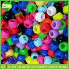 Stock lot for sale European standard 6*8mm big hole plastic pony beads