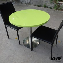 Solid surface restaurant round tables and chairs solid surface fabrication table