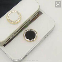 Factory high quality fashion bling Custom color diamond home button rhinestone sticker