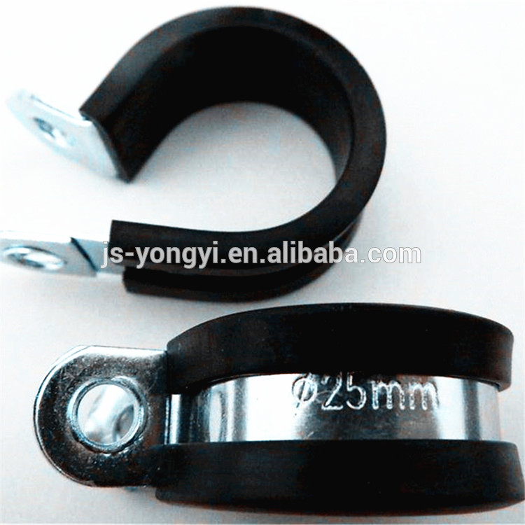 cheap price epdm rubber coated p shaped cable clamp best quality
