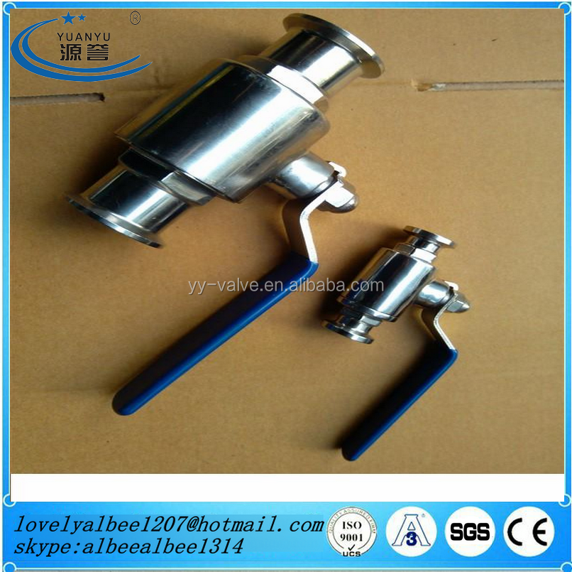 Sanitary stainless steel SS304 SS316L SMS/ISO/DIN/SMS triclamp TC clamp ball valve