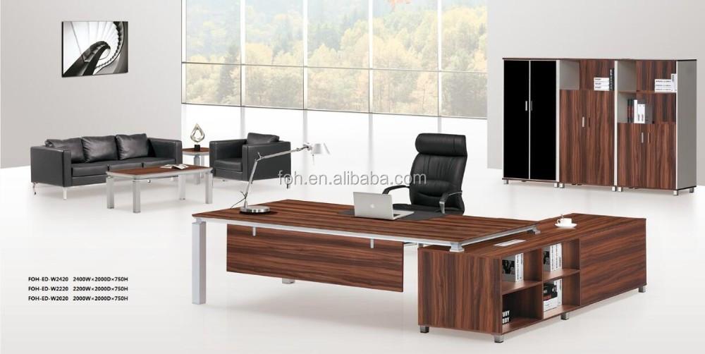 Nogal melamina moderno escritorio de oficina muebles foh - Muebles de escritorio ...
