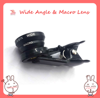 New Clip 2 in1Macro Wide Angle Mobile Phone Lens for all Smart Phone