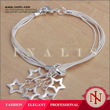 Hot sale women silver plated penis jewelry with star charms china supplier H153