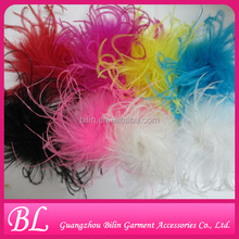 Wholesale Ostrich Feather Fascinator Puff Brooch