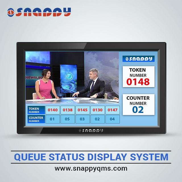 14inch Wireless Snappy Queue Status Display  Screen of  Queue Management system