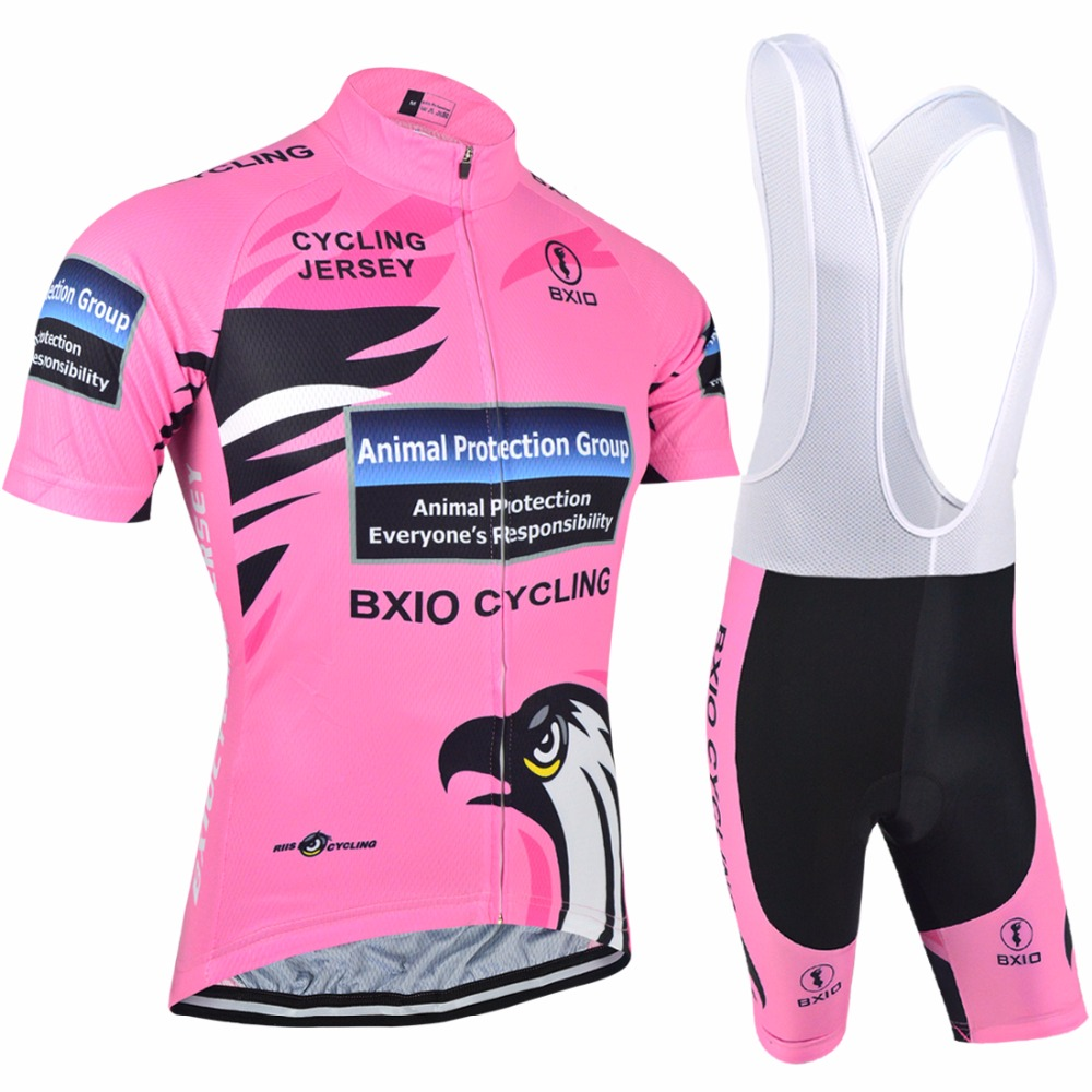 BXIO Women Cycling Clothing Bike Sportswear Summer Short Sleeve Bicycle Jersey Breathable Pink Jerseys Hot Popular BX-0209R067