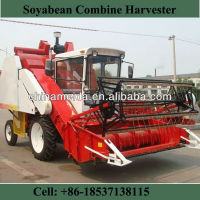 Factory Price 4L-1.0 Soyabean Combine Harvester Wheel Self-propelled green bean harvester