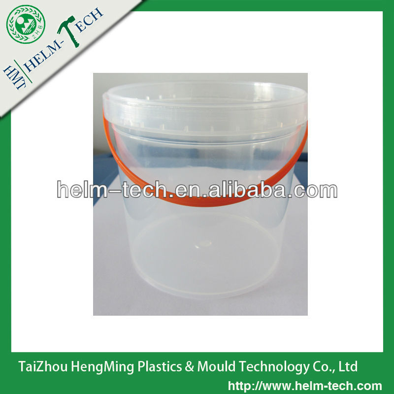 Food grade. 1.2L 1QT clear ice cream pail with handle