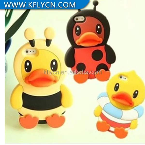 lovely cartoon animal shaped silicone mobile phone cases for iphone 4/4s