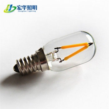 T22 1W Warm white Dimmable LED chandelier filament refrigerator light bulb