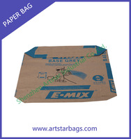 Good quality kraft paper cement bag with logo print