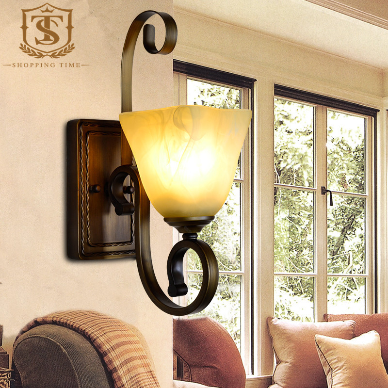 Classic Wrought Iron Wall Lamp For Bedroomhotel Buy