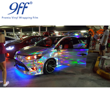 Hot selling holographic car vinyl wrap with size:1.52x20m/Roll