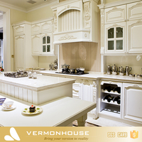 American Design MDF Board Kitchen cabient White Lacquer Modular Kitchen Design
