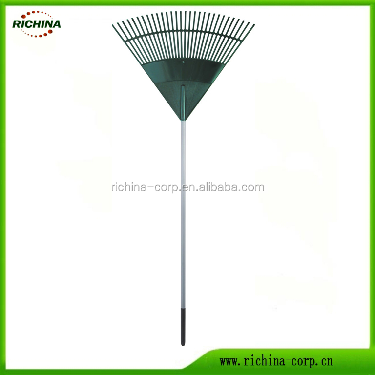 30 teeth, plastic head, steel tube handle with soft grip, Leaf Rake