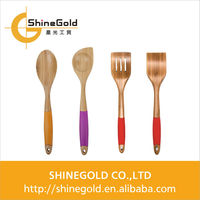 bamboo spoon with silicone handle