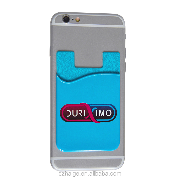 Custom colorful Silicone mobile phone wallet case