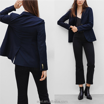 Custom design western suit women office wear fashion style classic work  jacket 093bc1359