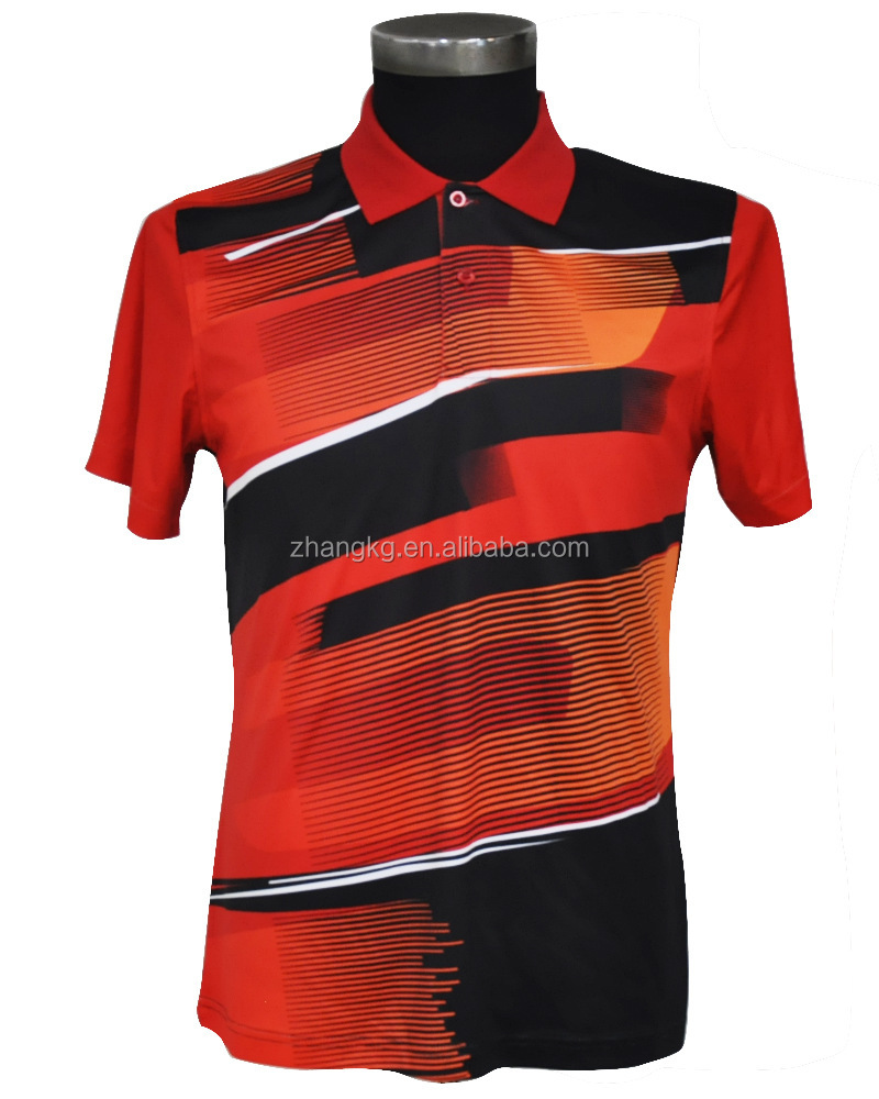 Sublimation Polo T Shirts Good Quality Design Sublimation