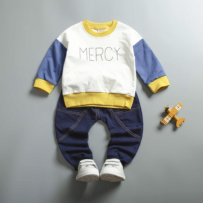 Thailand Wholesale 2 Pcs Spring Children Kids Clothes Clothing Set For Boys