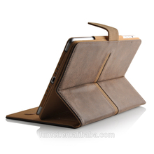 Magnetic Genuine Premium Flip Leather Case For apple Ipad Mini case , for ipad mini leather case