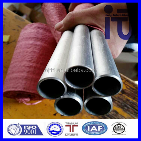 rolled and annealed ASTM B338 Titanium exhaust pipe for ford in titanium pipes seamless