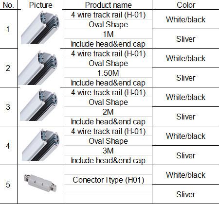 3 Phase Adapter Track Light Led Aluminium Led Track