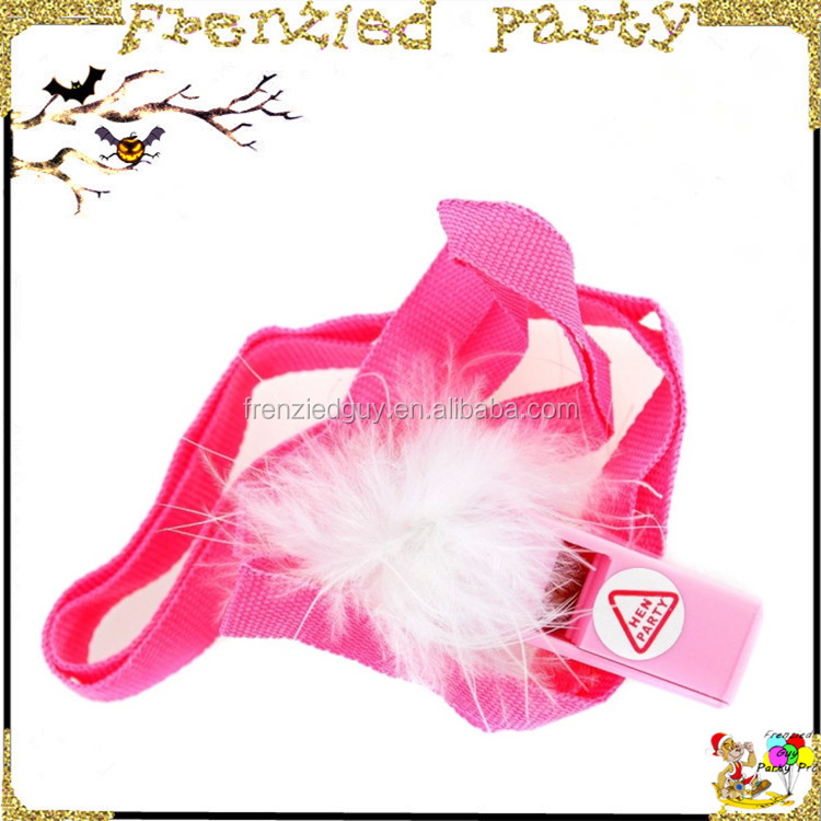 Hen night pink party plastic whistle toy FGPW-0002
