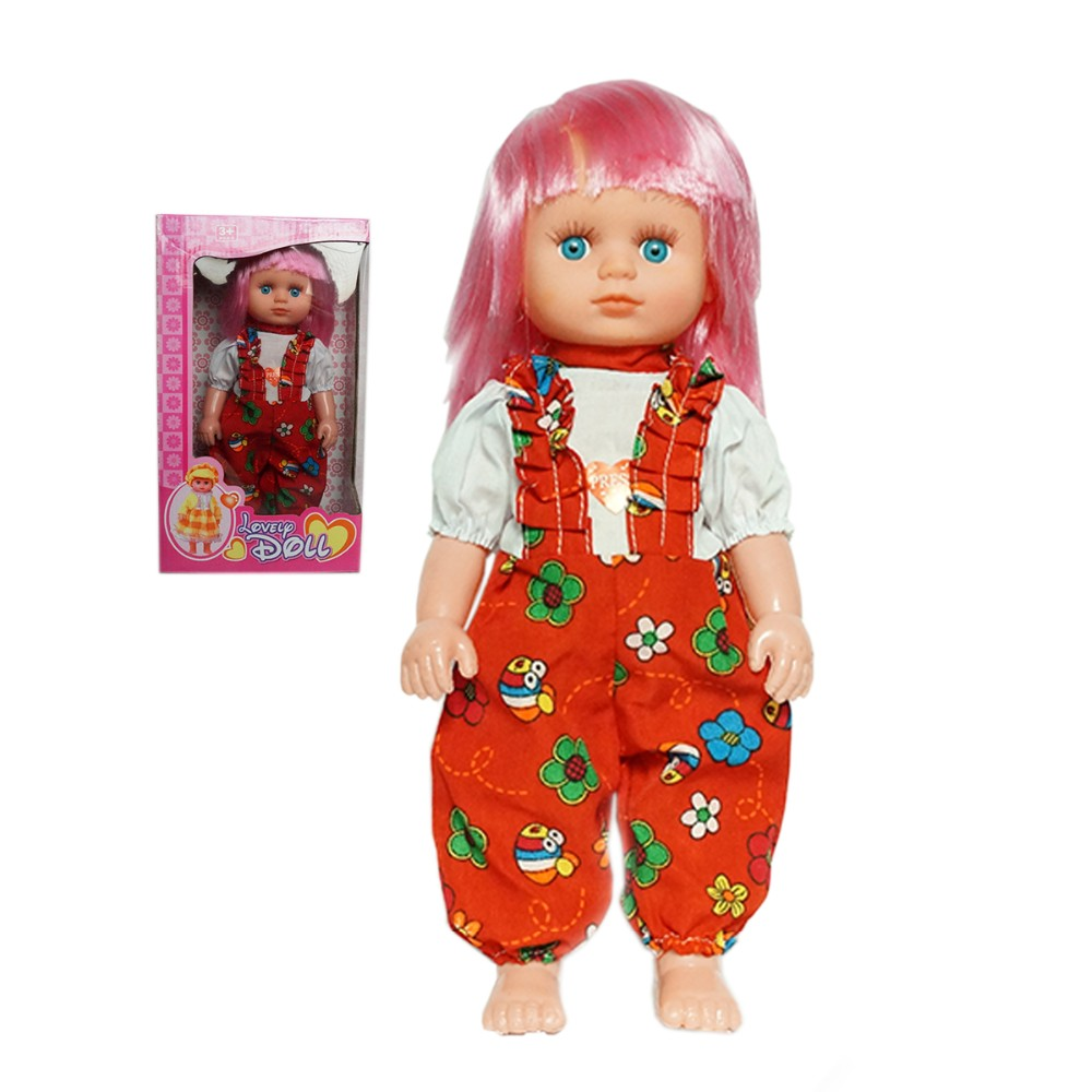 Hot Sale 12 Inch Dress-Up Beautiful Cloths Plastic Baby Toy Doll