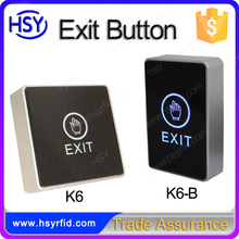 Cheap DC12V Door release push access control touch exit button