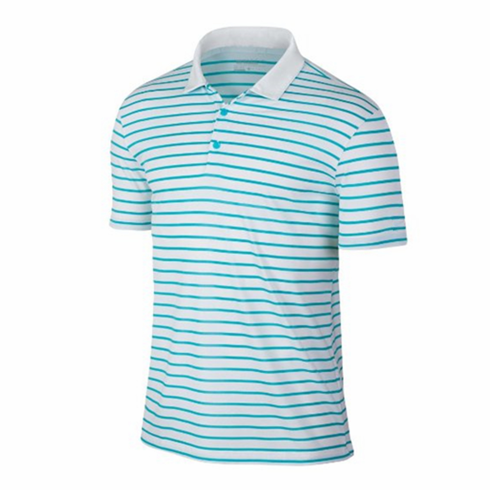 Custom 100% Polyester Spandex Mens Golf Shirts Dry Fit Polo