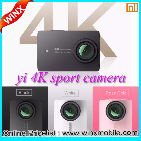 New Product Xiaomi 4K Yi Sports Action Camera Waterproof 40M F2.8 12.0MP