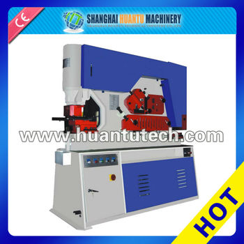 Q35Y Series Hydraulic Iron Worker combine punching shearing machine ironworker tools multi punching machine