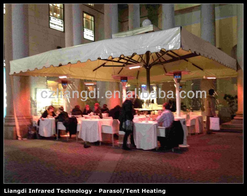 2014 best selling bar patio heater under parasol for outdoor bar