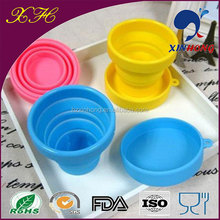 Fashion Reusable Collapsible Candy Colors Cup Travel Silicone Cup Sleeve