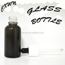 Mini! 15ml glass spray bottle empty cosmetic packaging for perfume, essential oil, lotion, cream, e liquid, oil