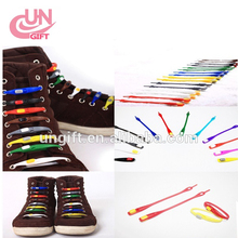 Fashion Light Shoeslaces Women Elastic Light Silicone Shoe Laces No Tie Shoelace All Sneakers Fit Strap
