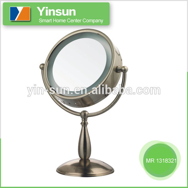 High frequency fashion free standing make up mirror With ISO9001