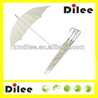 decorative sun fashion colorful stick big manufacture in China white umbrella