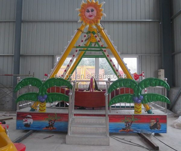 Attractions In China Mini Carnival Rides Trailer Pirate Ship For Sale